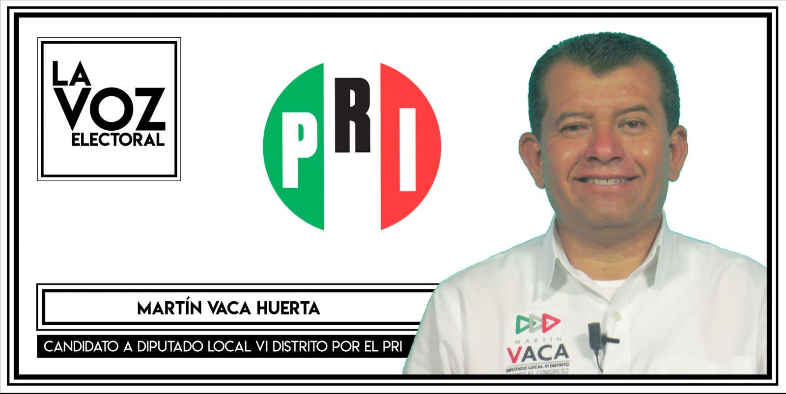 Martín Vaca Huerta - Candidato a Diputado Local VI Distrito por el PRI