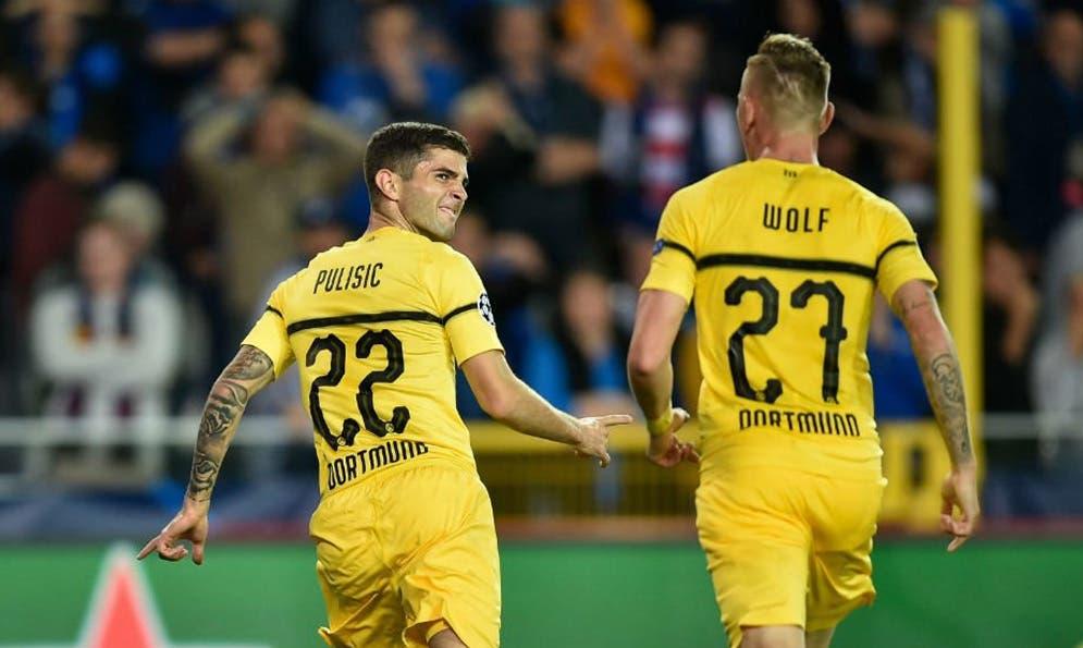 La suerte se alía con el Dortmund que derrota al Brujas