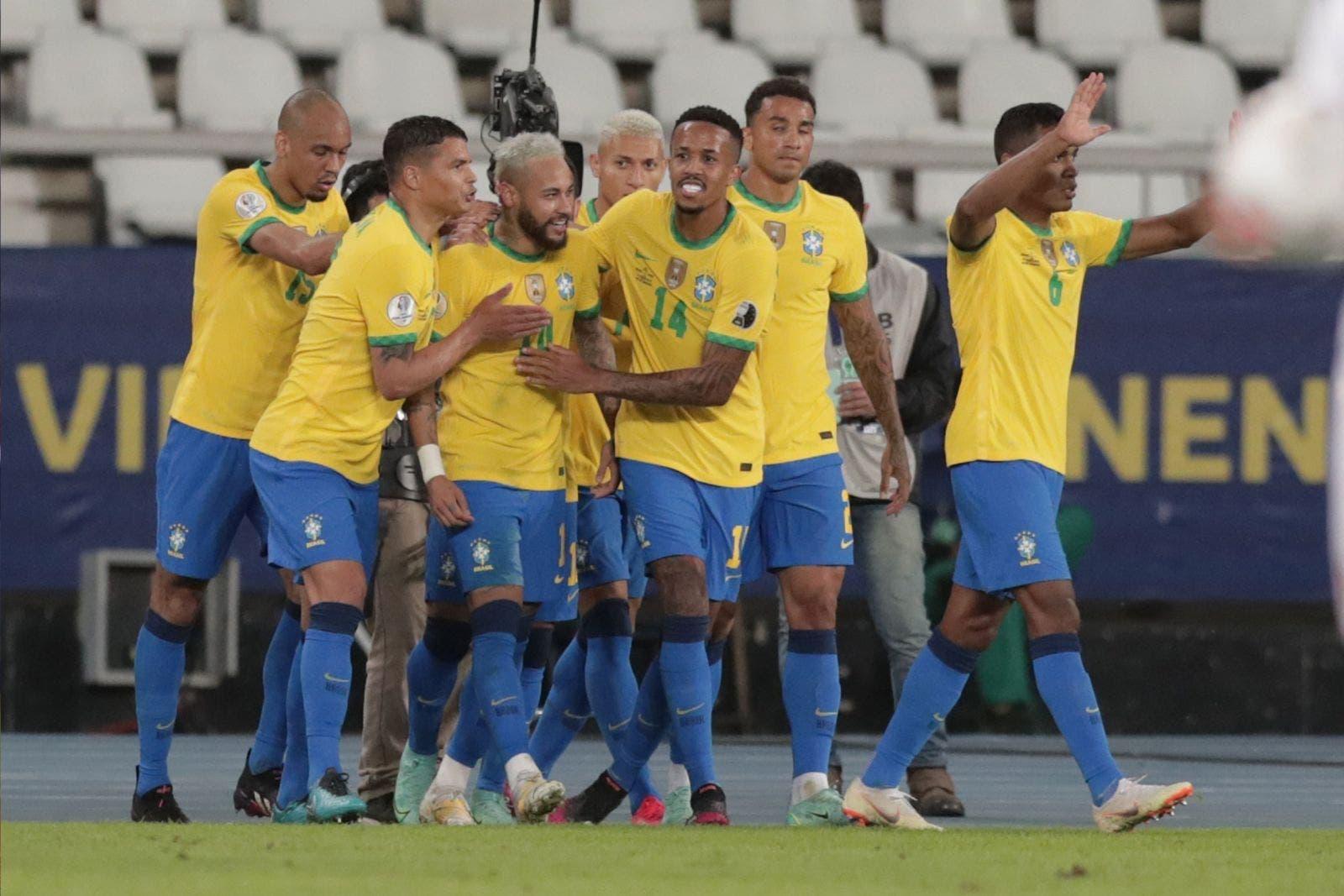 4-0. Brasil arrolló a Perú